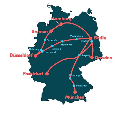 rennstrecken deutschland karte Blablabus für die Rennstrecken, die Mitfahr App für dazwischen